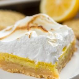 Lemon Meringue Pie Bars with Shortbread Crust