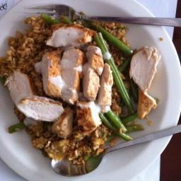 Lemon-Piri Chicken with Fluffy Egg Rice