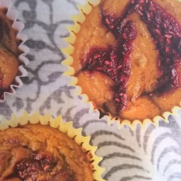 Lemon Raspberry Swirl Muffins