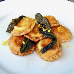 Lemon Ricotta Ravioli with Sage Brown Butter Sauce