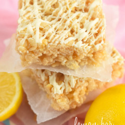 Lemon Bar Rice Krispie Bars
