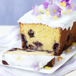 Lemon Curd and Blueberry Loaf Cake