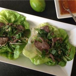 Lemongrass Beef lettuce wraps