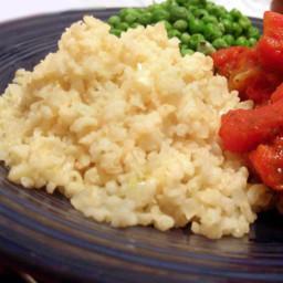 Lemony Brown Rice Pilaf