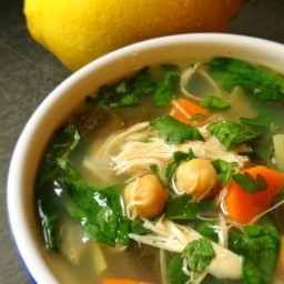 Lemony Chicken Soup with Greens