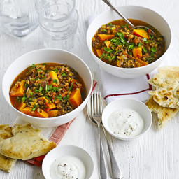 Lentil  and  sweet potato curry