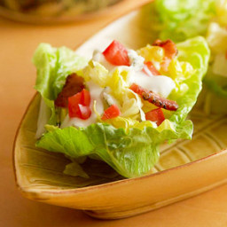 Lettuce Cups with Blue and Bacon