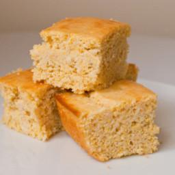 Light and Sweet Cornbread (You will not believe it is eggless!)