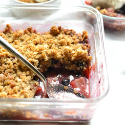 Lightened-Up Berry Crisp