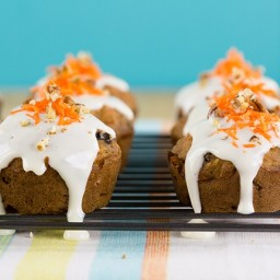 Lightened Up Carrot Cake Muffins With Cream Cheese Glaze