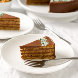 Lighter Flourless Bulgarian Garash Cake