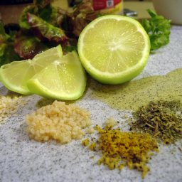 Lime and Olive Oil Salad Dressing