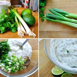 Lime-Cilantro Greek Yogurt Crema