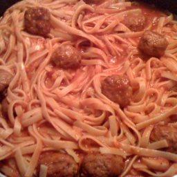 Linguine and Meatballs