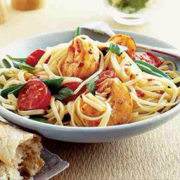 Linguini with Honey-Sauced Prawns