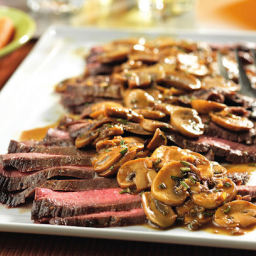 London Broil w/ Mushroom Gravy - PRESSURE COOKER