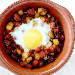 Longanisa Hash with Baked Egg