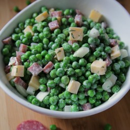 Low Cal Pea Salad (side, healthy)