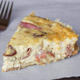 Low Carb Bacon and Swiss Quiche
