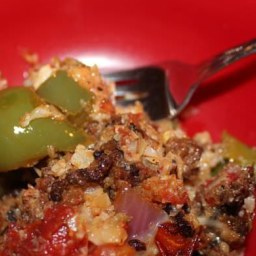 Low Carb Stuffed Peppers Skillet Dinner