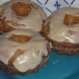 Low Fat Apple Cider Doughnuts with Maple Syrup Glaze