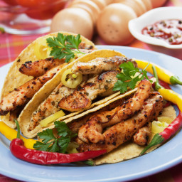 Low-fat Citrus-Marinated Chicken Tacos (8 Pts)