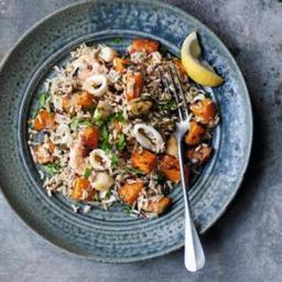 Low-fat Seafood Pilaf