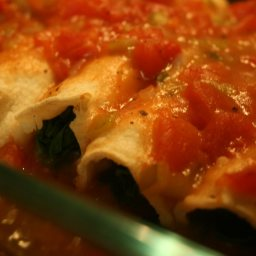 Low Fat Spinach Enchiladas