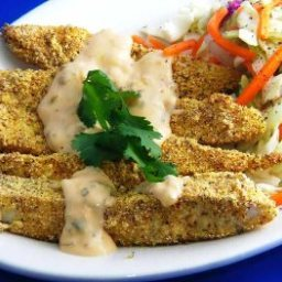 Low Fat, Tex-Mex Fish Fingers