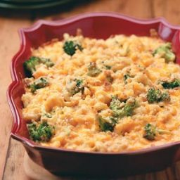 Mac And Cheddar Cheese With Chicken And Broccoli