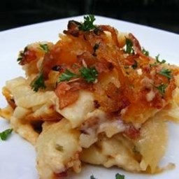 ... and Cheese Macaroni and Cheese with Caramelized Onions and Bacon