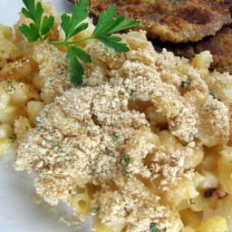 Macarrones con queso y coliflor / Mac and cheese casero con coliflor