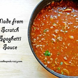 Made from Scratch Spaghetti Sauce