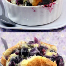 Magic Blueberry Coconut Lime Pudding Cake