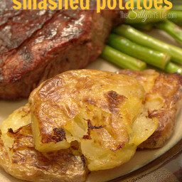 Malt Vinegar Smashed Potatoes