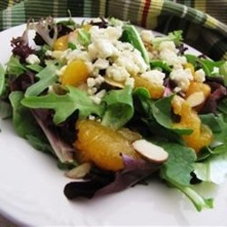Mandarin Orange, Gorgonzola and Almond Delight