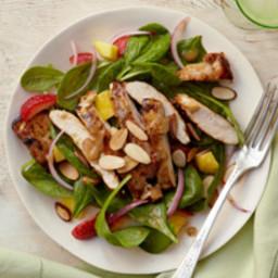Mango-Balsamic Spinach Salad with Chicken