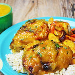 Mango Habanero Glazed Chicken