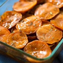 Maple and Tarragon Sweet Potatoes