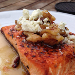 Maple Bourbon glazed Salmon