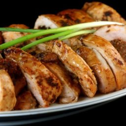 Maple Brined, Ancho-Scallion Boneless Turkey Breast Roulade with Apple-Butt
