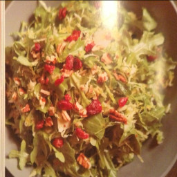 Maple Dijon Brussels Sprout Salad