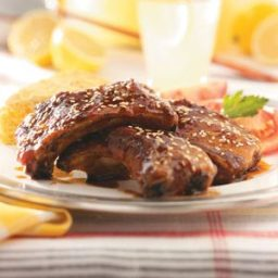 Maple Glazed Spare Ribs