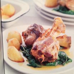 Maple Syrup-glazed Lamb Shanks