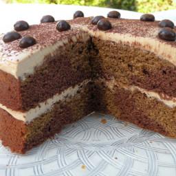 Marbled mocha cake