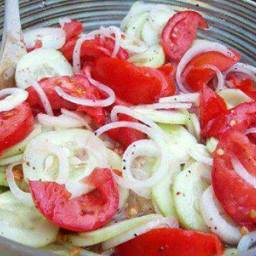 Marinated Cucumber, Onion and Tomato Salad