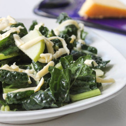 Marinated Kale Salad with Gouda and Shaved Apples