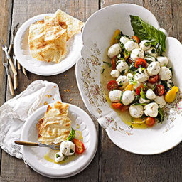 Marinated Mozzarella with Basil