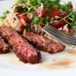 Marsala Marinated Skirt Steak