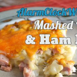 Mashed Potato and Ham Bake